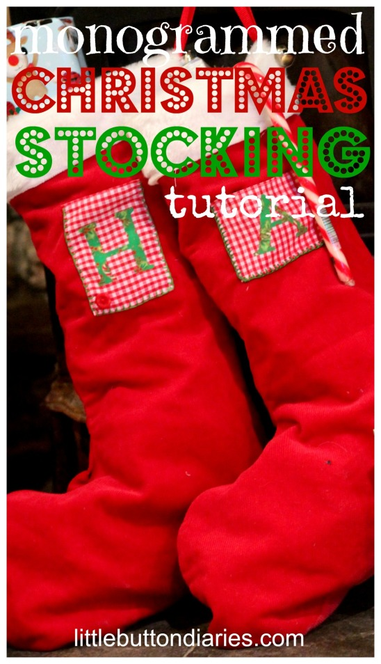 monogrammed christmas stocking tutorial