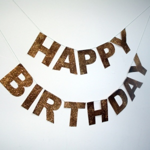 Happy birthday glitter banner how to