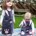 How to make a children's bunny dress tutorial