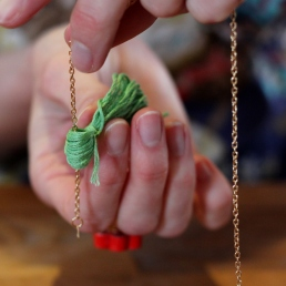 How to Make a Tassel Necklace - Step Five #jewellerymaking #jewellery #diy #tassels