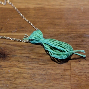 How to Make a Tassel Necklace - Step Six #jewellerymaking #jewellery #diy #tassels