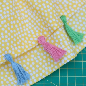 toddler tassel skirt DIY