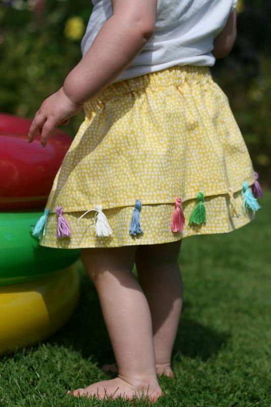 toddler tassel skirt DIY