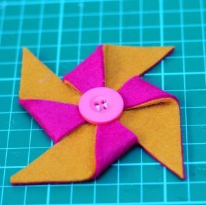 pinwheel hairclip tutorial 10