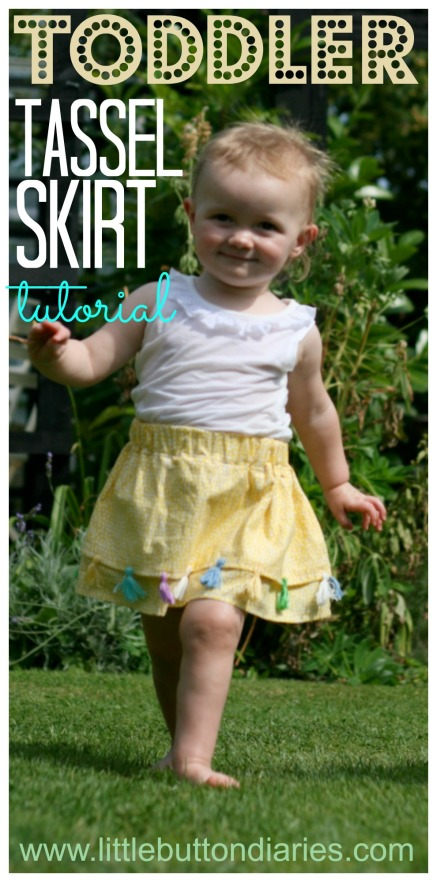 toddler tassel skirt tutorial