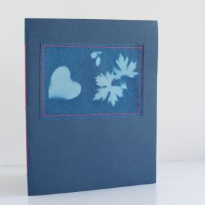 sun print notebook diy