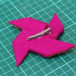 pinwheel hairclip tutorial 12