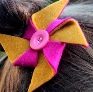 pinwheel hairclip tutorial 16