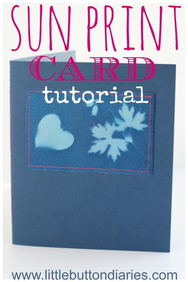 sunprint card tutorial