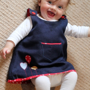 baby dress tutorial 1b