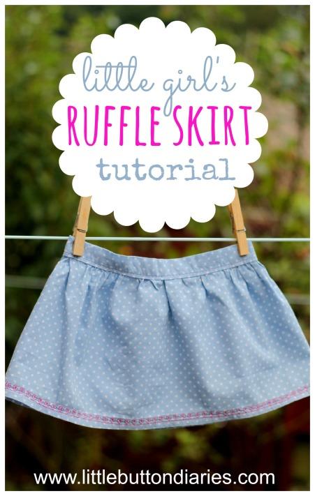 little girl ruffle skirt tutorial 2