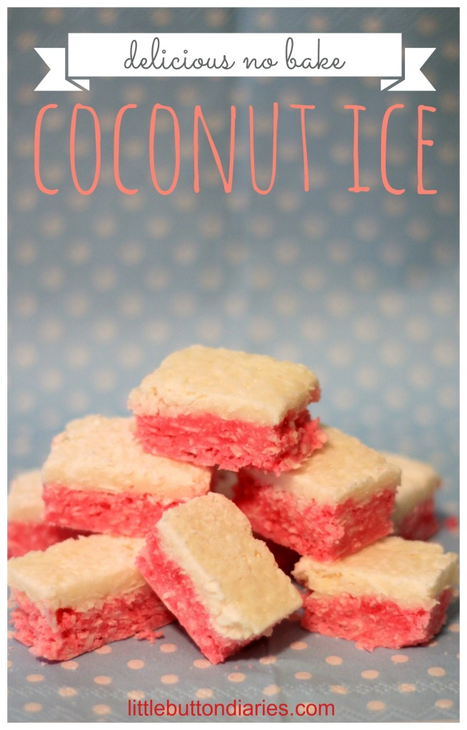 no bake coconut ice little button diaries