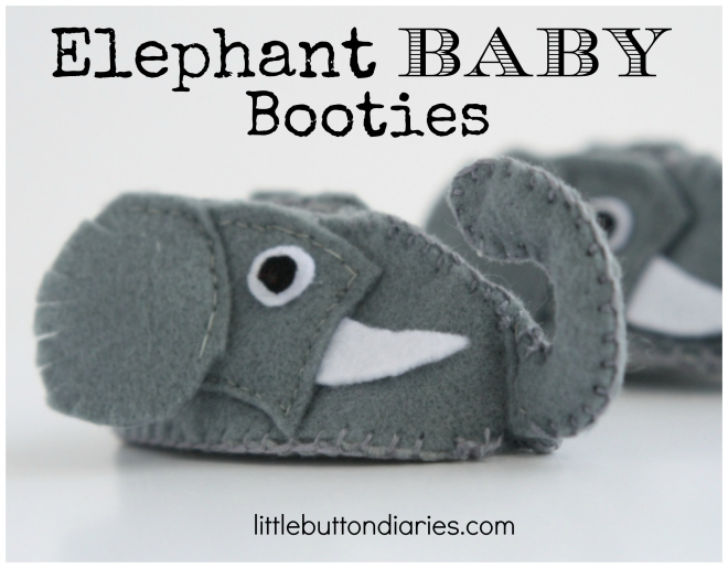 elephant baby booties diy