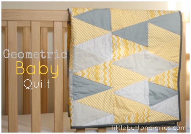 geometric baby quilt tutorial
