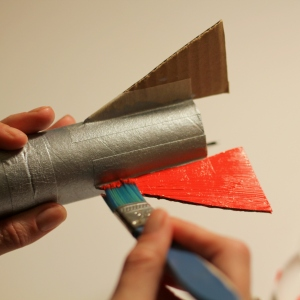 How to Make a Cardboard Tube Rocket Ship #KidsCraft