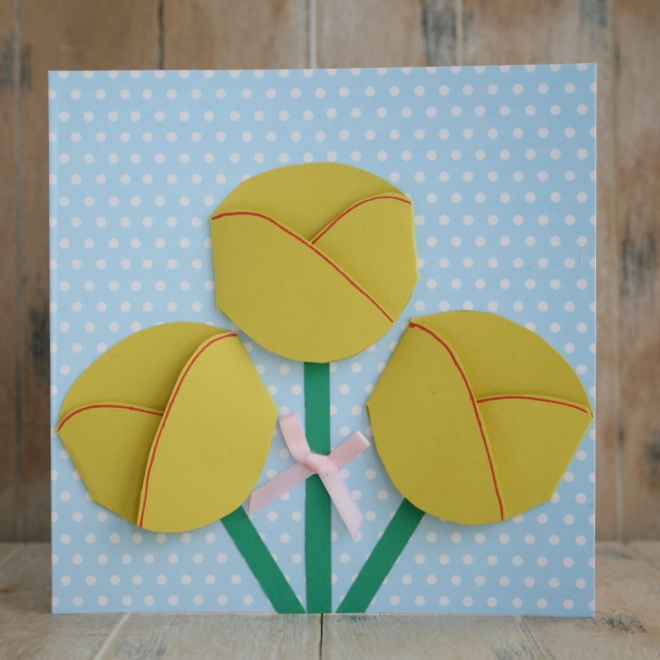 4 Easy Mother's Day Card Ideas #Mothersday #CardMaking #Papercraft #KidsCraft #Tulip