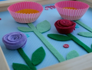 How to Make a Floral Art Mother's Day Frame #MothersDay #KidsCraft