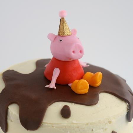 peppa pig birthday cake tutorial