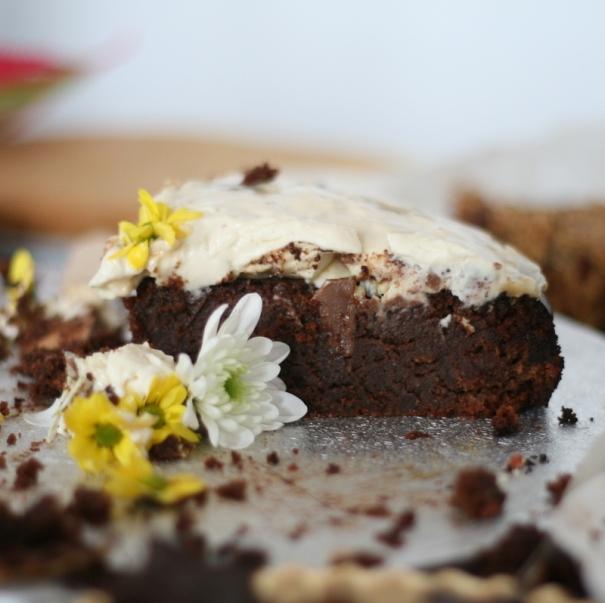 gluten free fudgy almond cake