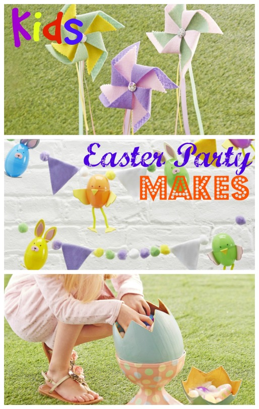 kids easter party makes little button diaries